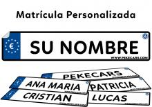 Matrícula Personalizada Pekecars