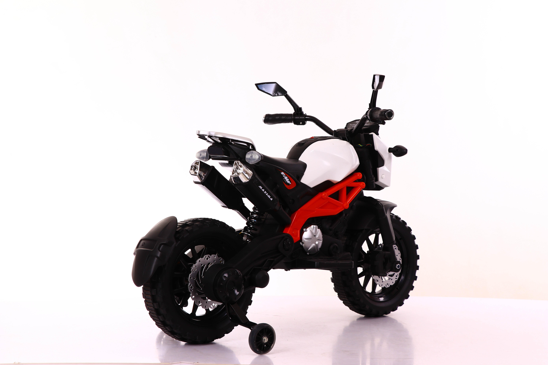 Moto de cross Máxima Roja/Blanca - vista trasera