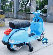Moto electrica para niños Vespa Clasica Piaggio 12V Azul vista principal