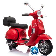 Moto electrica para niños Vespa Clasica Piaggio 12V Roja vista principal