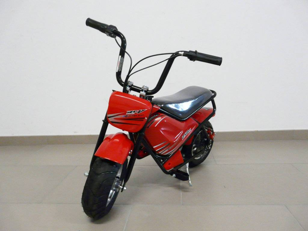 Moto electrica para niños Pekecars 24V 250W Roja vista principal