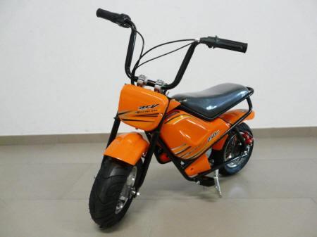 moto electrica para nios pekecars w v naranja