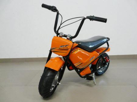 Moto electrica para niños Pekecars 24V 250W Naranja vista principal