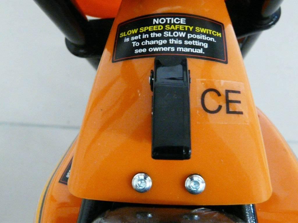 Moto electrica para niños Pekecars 24V 250W Verde interruptor de encendido