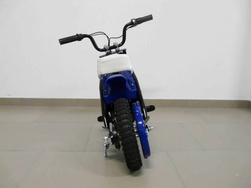 Moto electrica infantil Pekecars 24V 200W Azul trasera