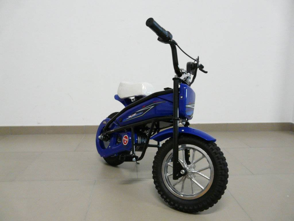Moto electrica infantil Pekecars 24V 200W Azul con ruedines