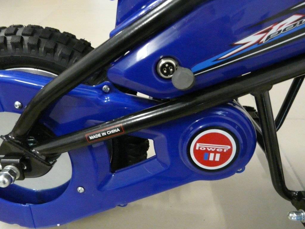 Moto electrica infantil Pekecars 24V 200W Azul cubierta