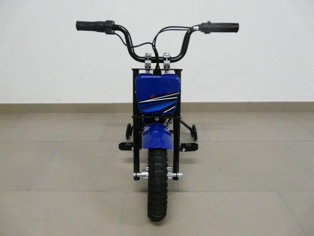 Moto electrica infantil Pekecars 24V 200W Azul delantera