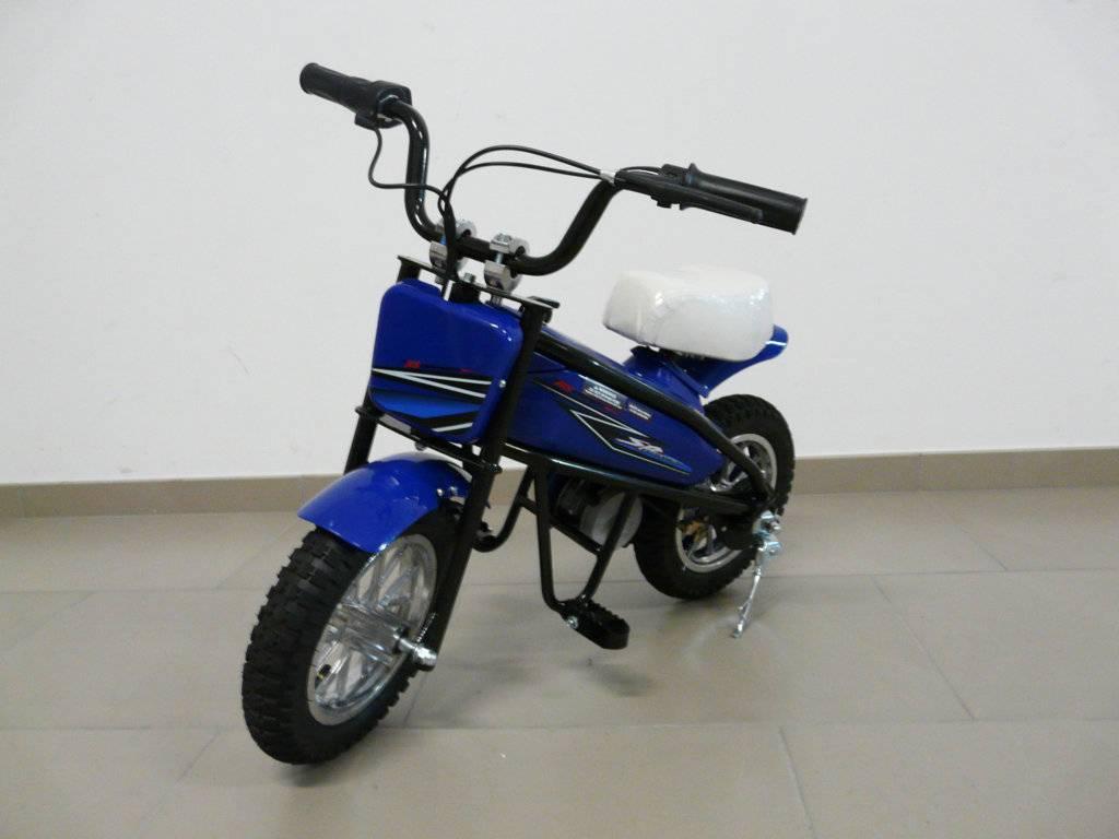 Moto electrica infantil Pekecars 24V 200W Azul vista principal