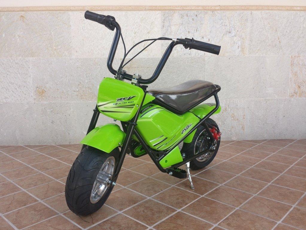 Moto electrica para niños Pekecars 24V 250W Verde vista principal