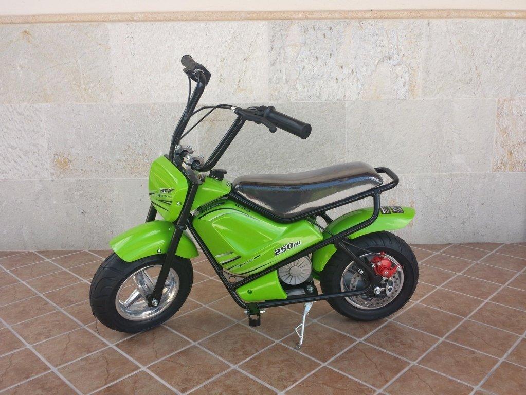 Moto electrica para niños Pekecars 24V 250W Verde lateral