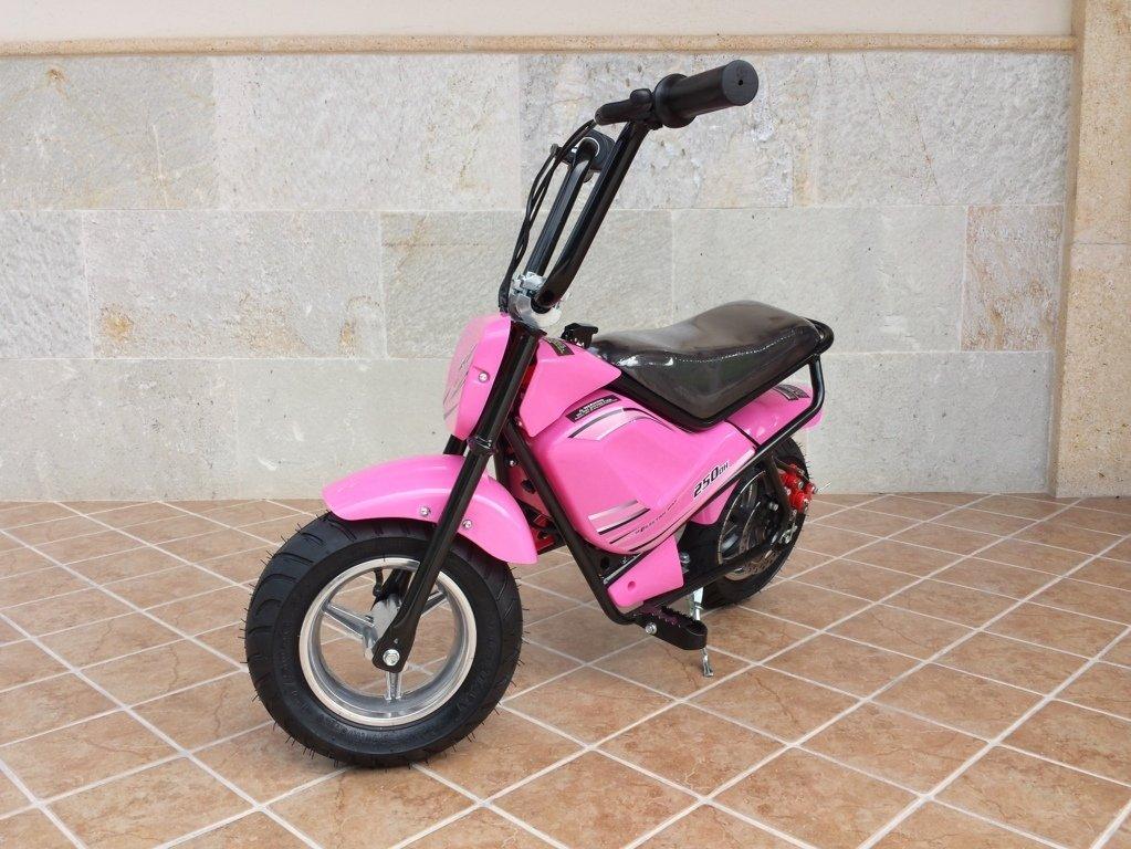 Moto electrica para niños Pekecars 24V 250W Rosa