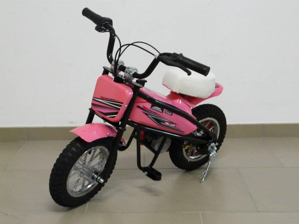 Moto electrica infantil Pekecars 200W 24V rosa
