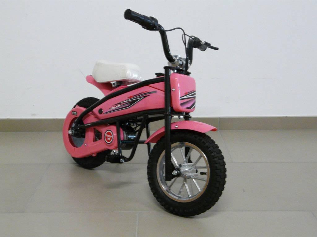 moto electrica para nios pekecars w v rosa