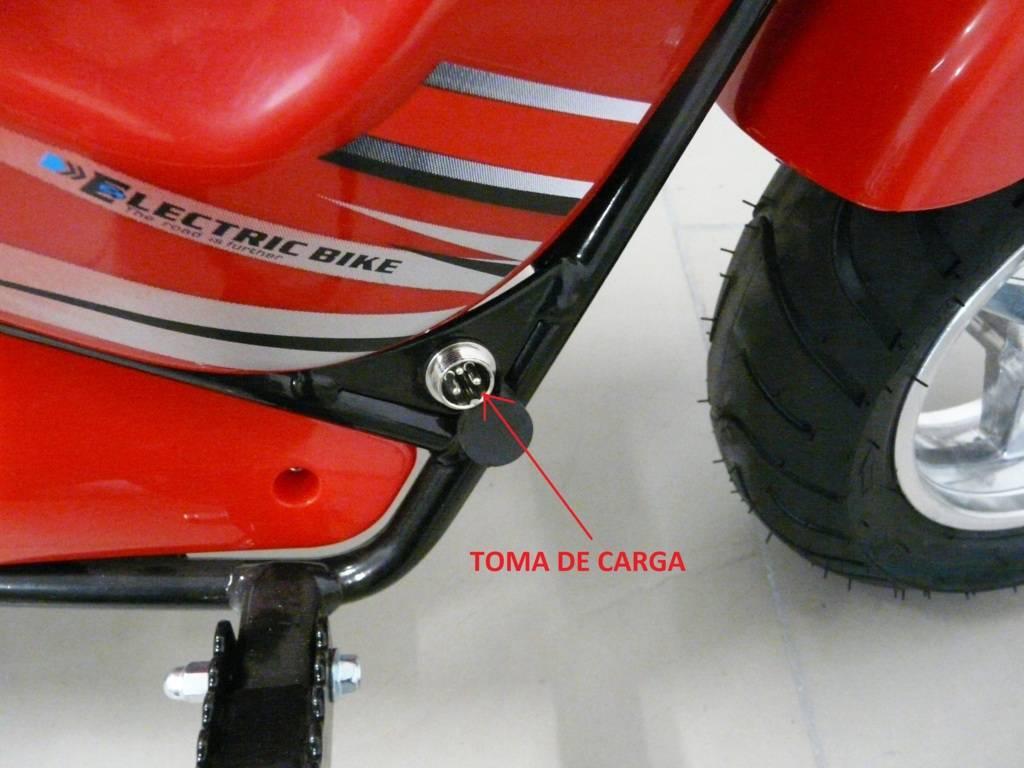 Moto electrica para niños Pekecars 24V 250W Roja ruedas neumaticas