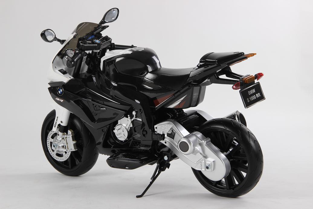 Moto BMW S1000RR 12V para niños vista lateral