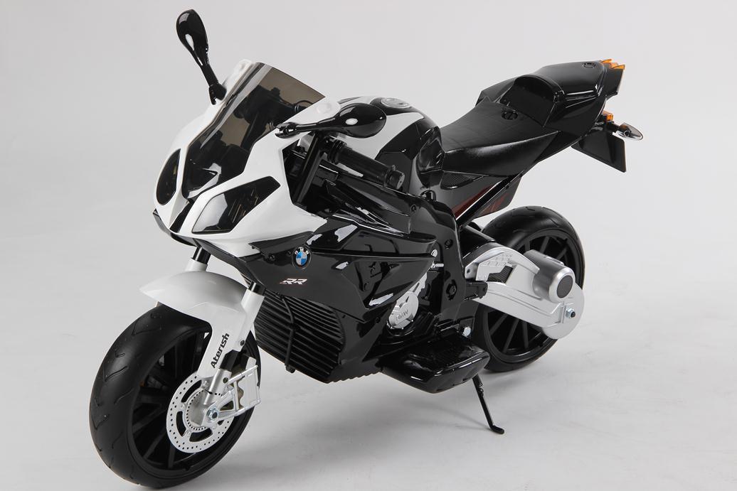 Moto bmw 12v black para ni os pekecars for Espejos para ver a los bebes en el coche