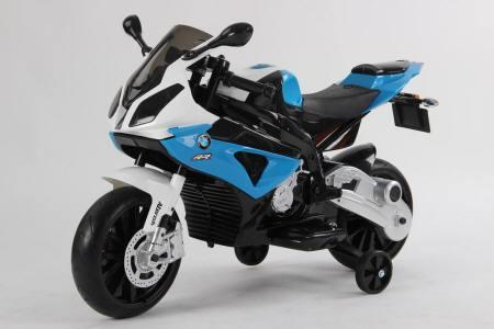 Moto electrica para niños BMW S1000RR Azul vista principal