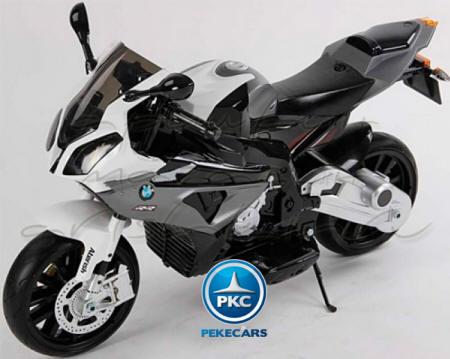 Moto electrica para niños BMW S1000RR Gris vista principal