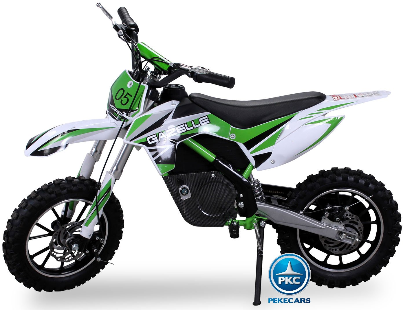 Moto electrica para niños gazelle verde