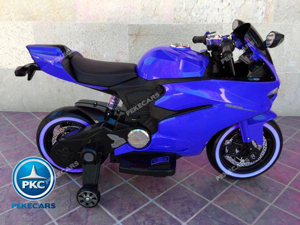 Moto electrica para niños Ducati Panigale Style Azul lateral