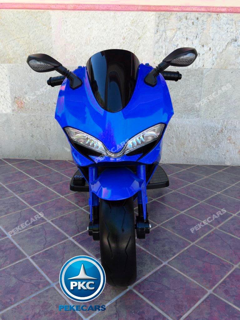 Moto electrica para niños Ducati Panigale Style Azul vista frontal
