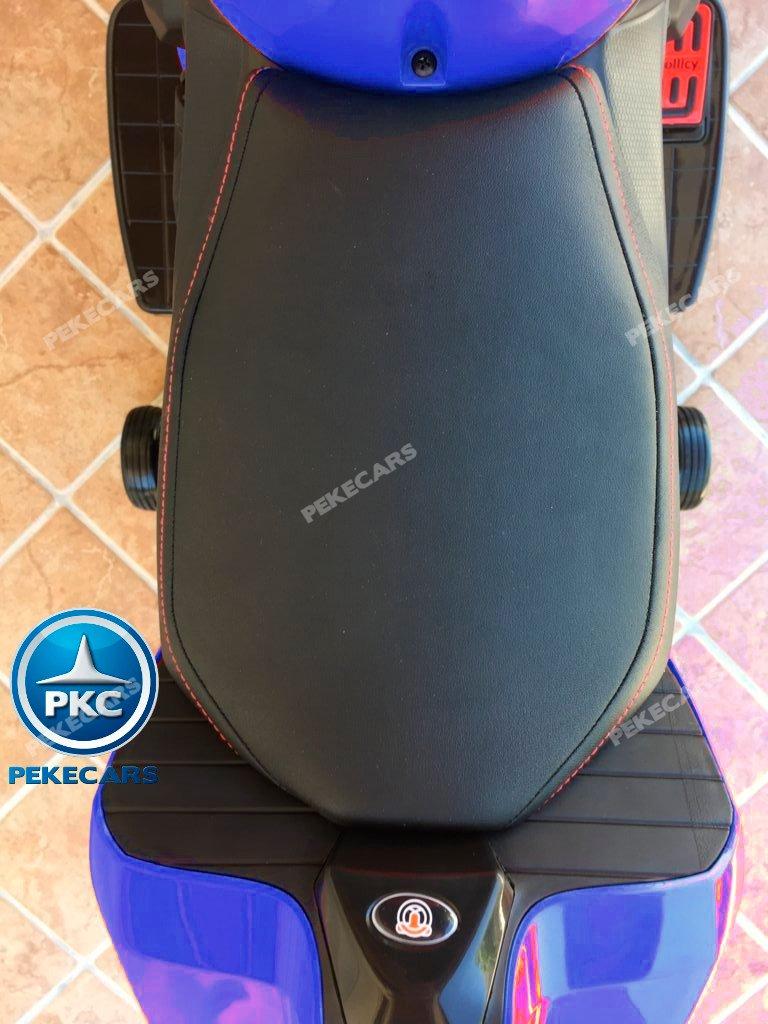 Moto electrica para niños Ducati Panigale Style Azul asiento en piel