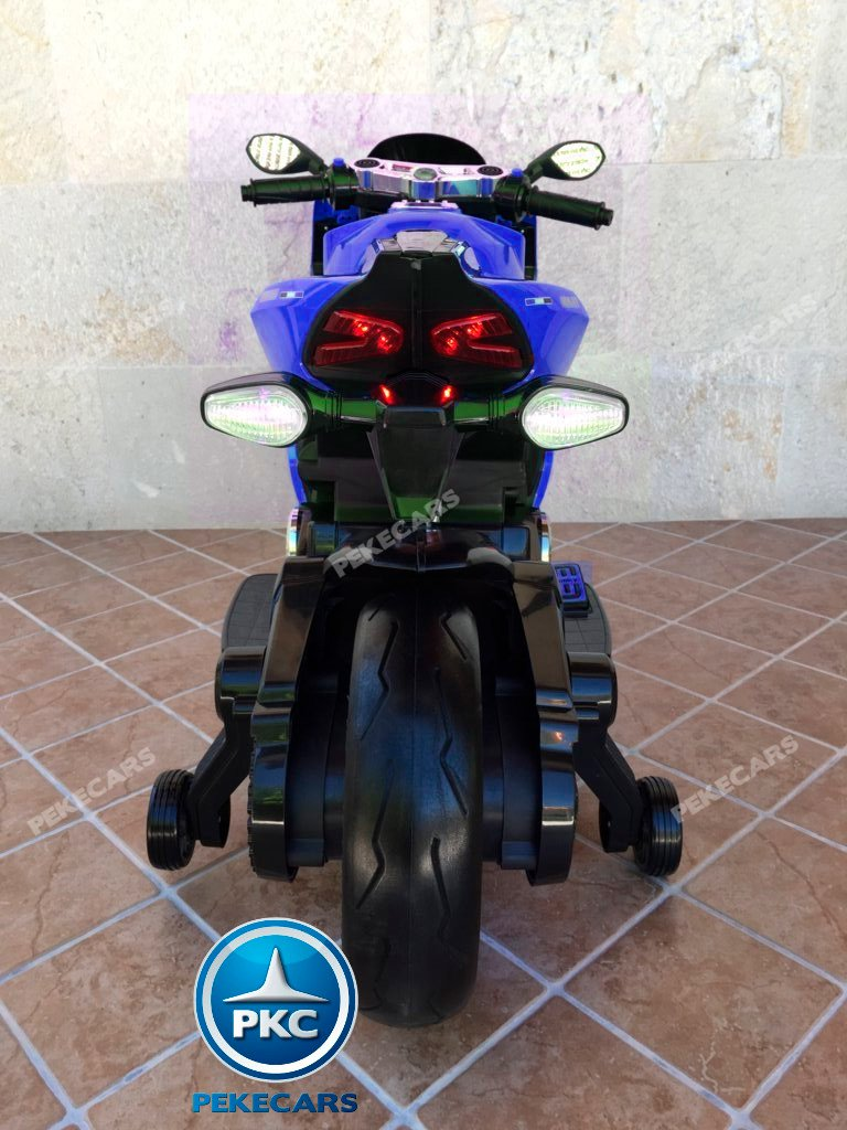 Moto electrica para niños Ducati Panigale Style Azul vista trasera