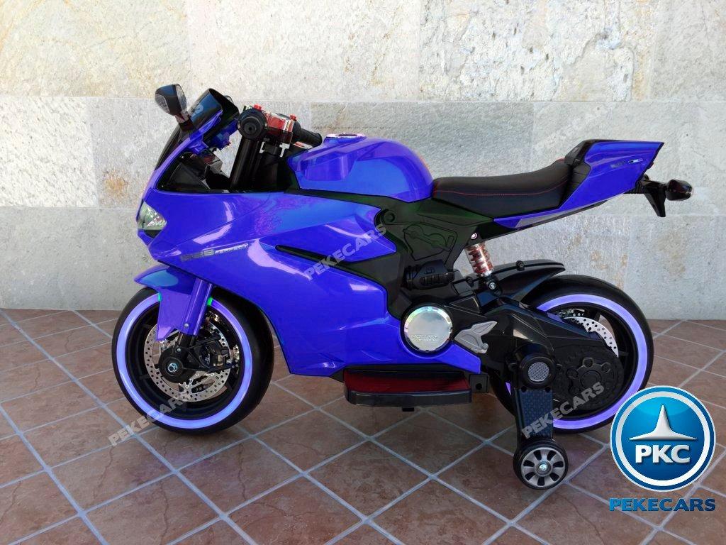 Moto electrica para niños Ducati Panigale Style Azul de lado