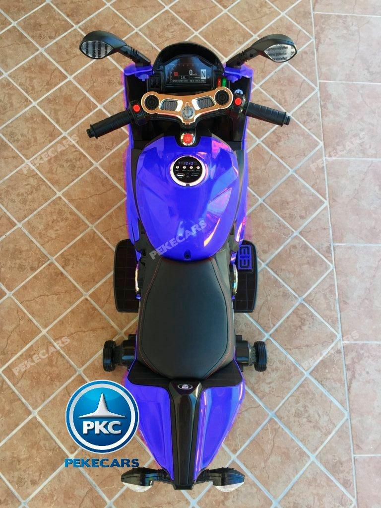 Moto electrica para niños Ducati Panigale Style Azul visto desde arriba