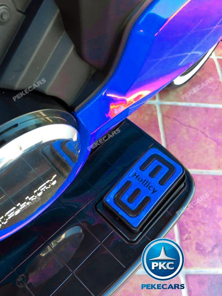 Moto electrica para niños Ducati Panigale Style Azul acelerador en el pedal