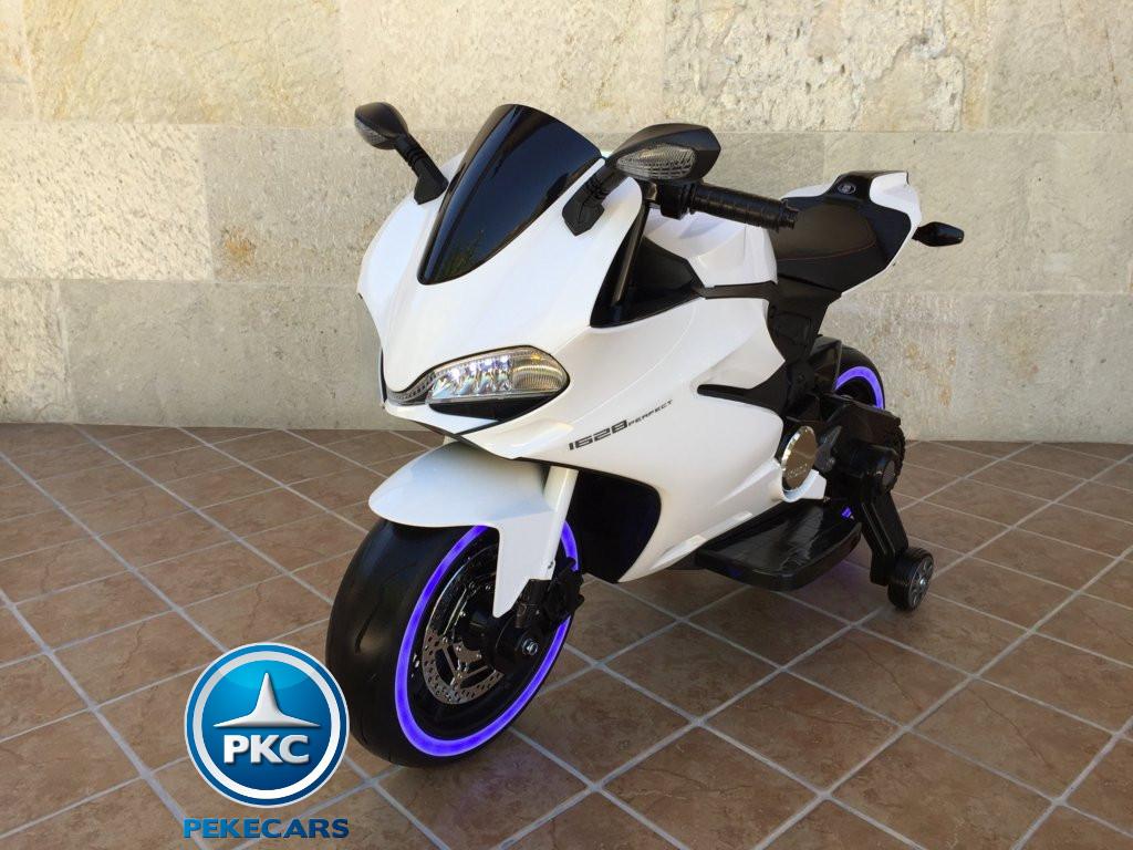 Moto electrica para niños Ducati Panigale Style Blanca