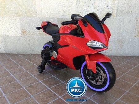 Moto electrica para niños Ducati Panigale Style Roja vista principal