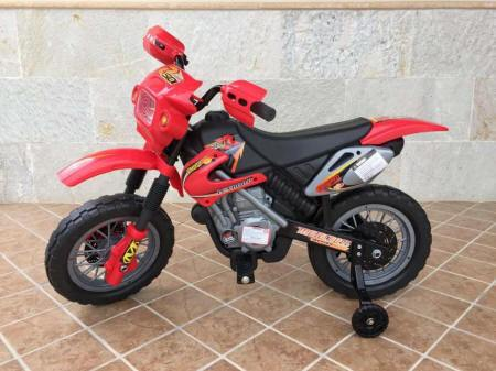 Pekecars Moto Cross 6V Red