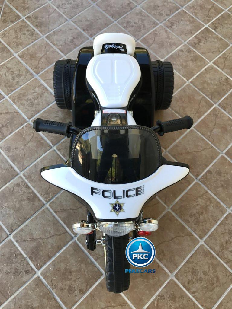 Trimoto electrica para niños de policia 6V Negra
