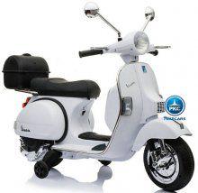 Moto electrica para niños Vespa Clasica Piaggio 12V Blanca vista principal