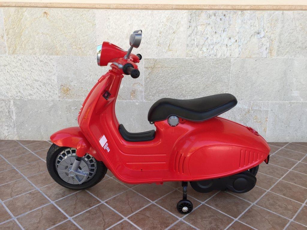 Vespa style 12V Roja lateral