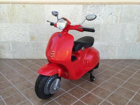 Vespa style 12V para niños roja pekecars