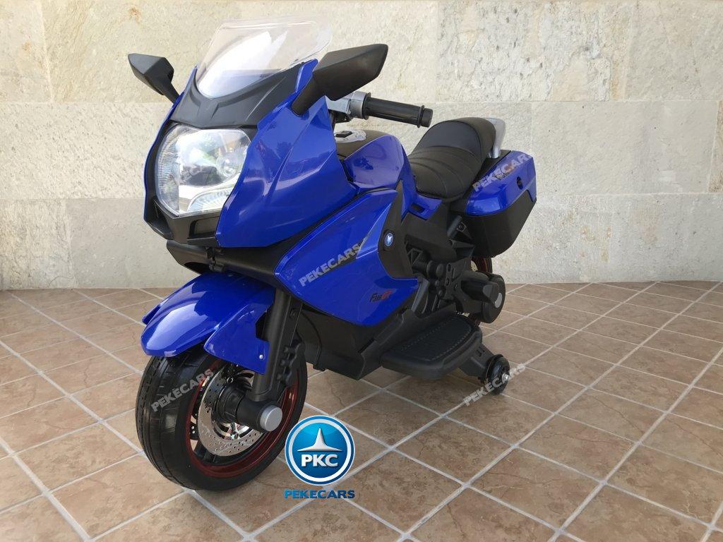 Moto electrica para niños BMW Style C 650 GT 12V Azul vista principal