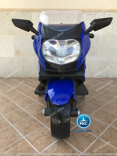 Moto electrica para niños BMW Style C 650 GT 12V Azul vista frontal