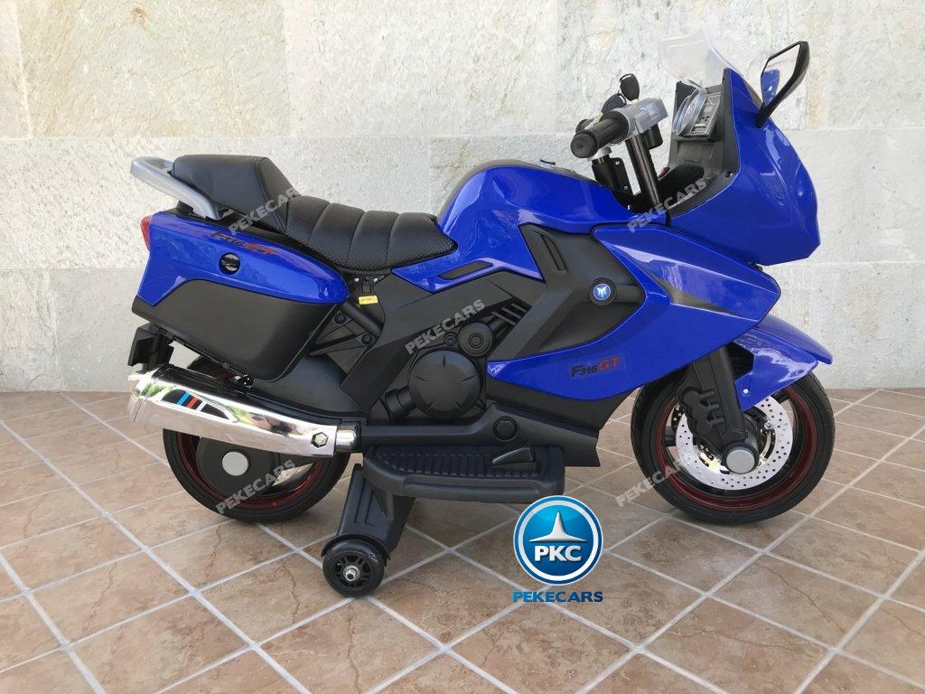 Moto electrica para niños BMW Style C 650 GT 12V Azul lateral