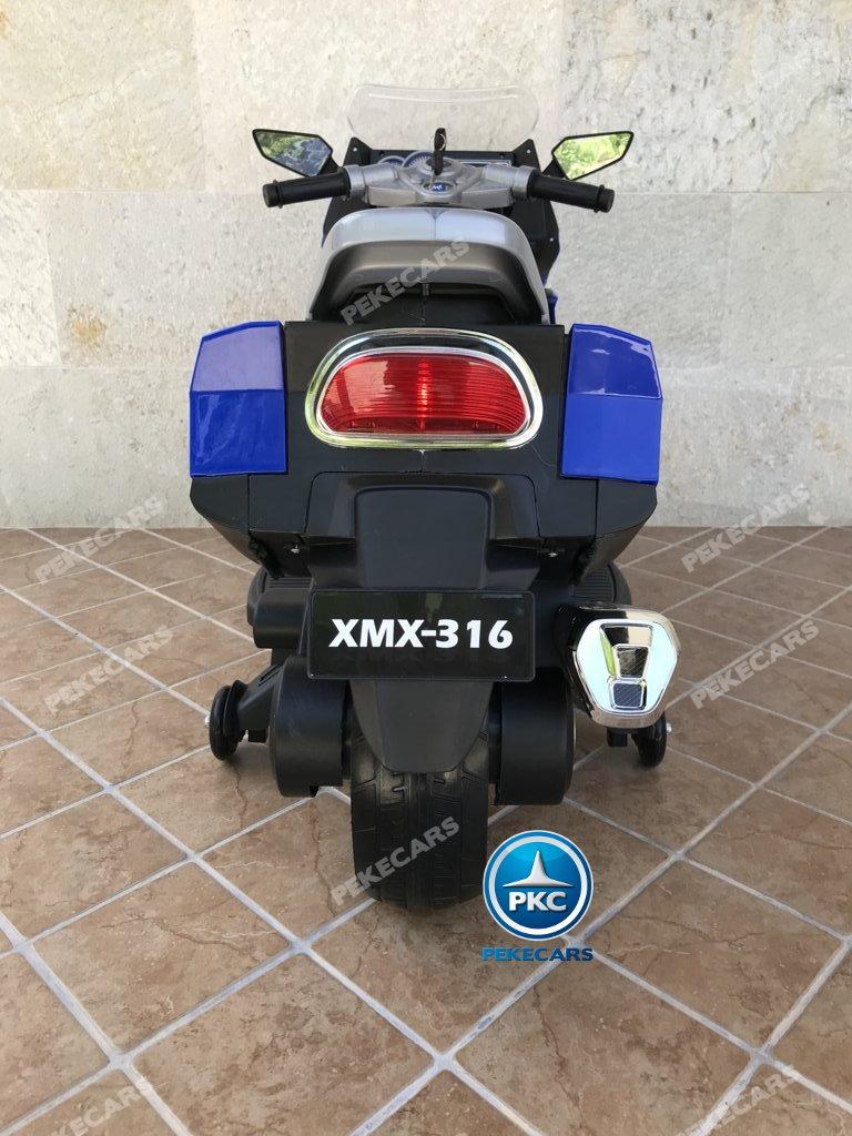 Moto electrica para niños BMW Style C 650 GT 12V Azul vista trasera