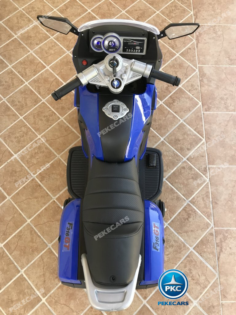 Moto electrica para niños BMW Style C 650 GT 12V Azul vista desde arriba