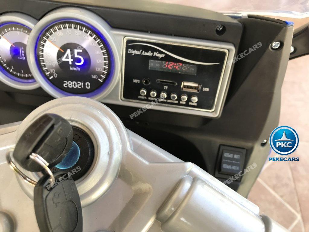 Moto electrica para niños BMW Style C 650 GT 12V Azul conexion USB