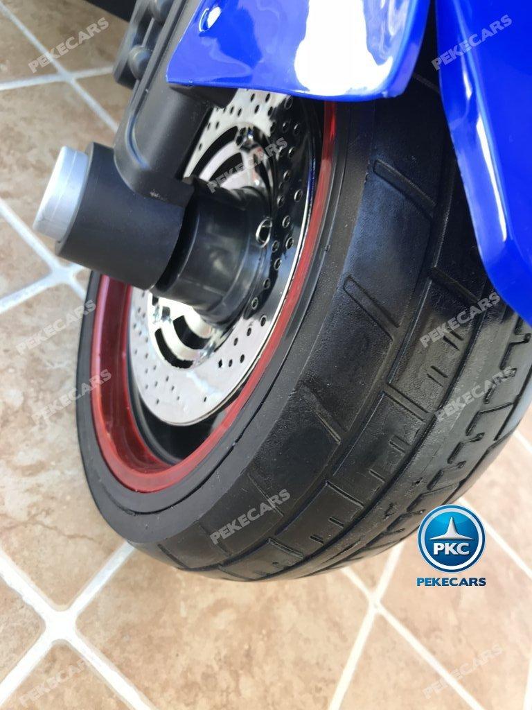 Moto electrica para niños BMW Style C 650 GT 12V Azul ruedas de caucho antipinchazos