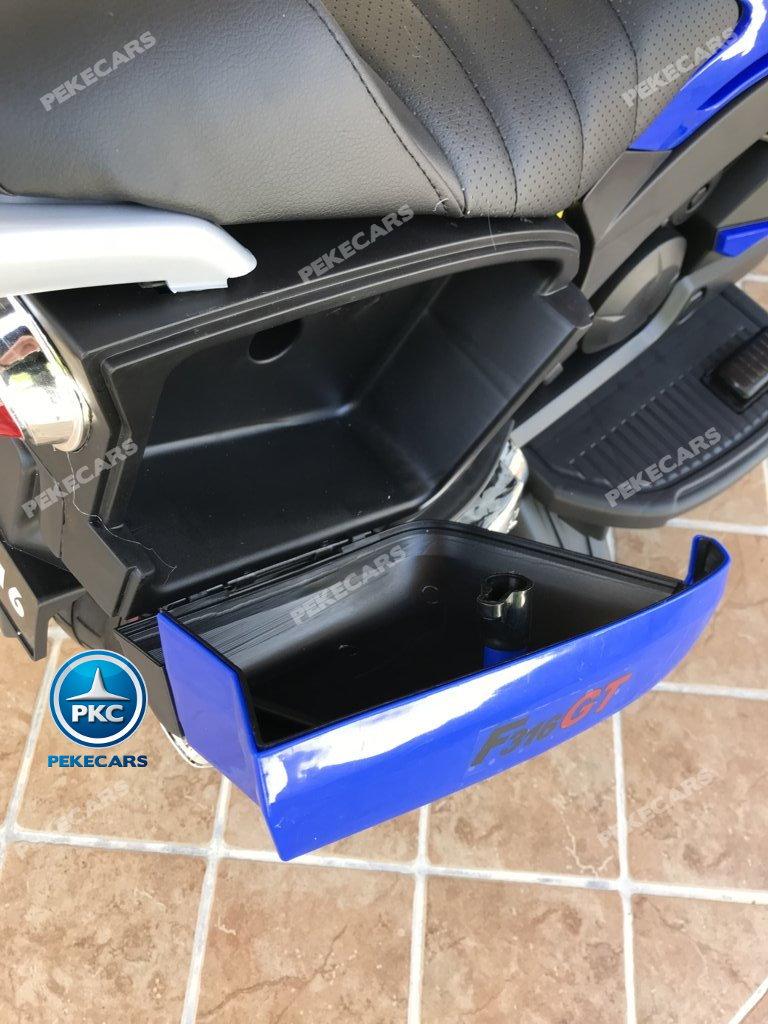 Moto electrica para niños BMW Style C 650 GT 12V Azul maletero