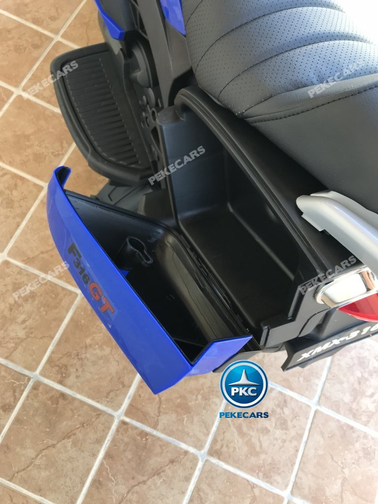 Moto electrica para niños BMW Style C 650 GT 12V Azul maletero trasero
