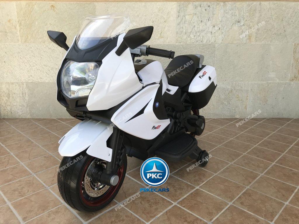 Moto electrica para niños BMW Style C 650 GT 12V Blanca vista principal