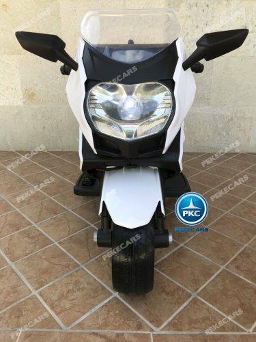 Moto electrica para niños BMW Style C 650 GT 12V Blanca vista frontal