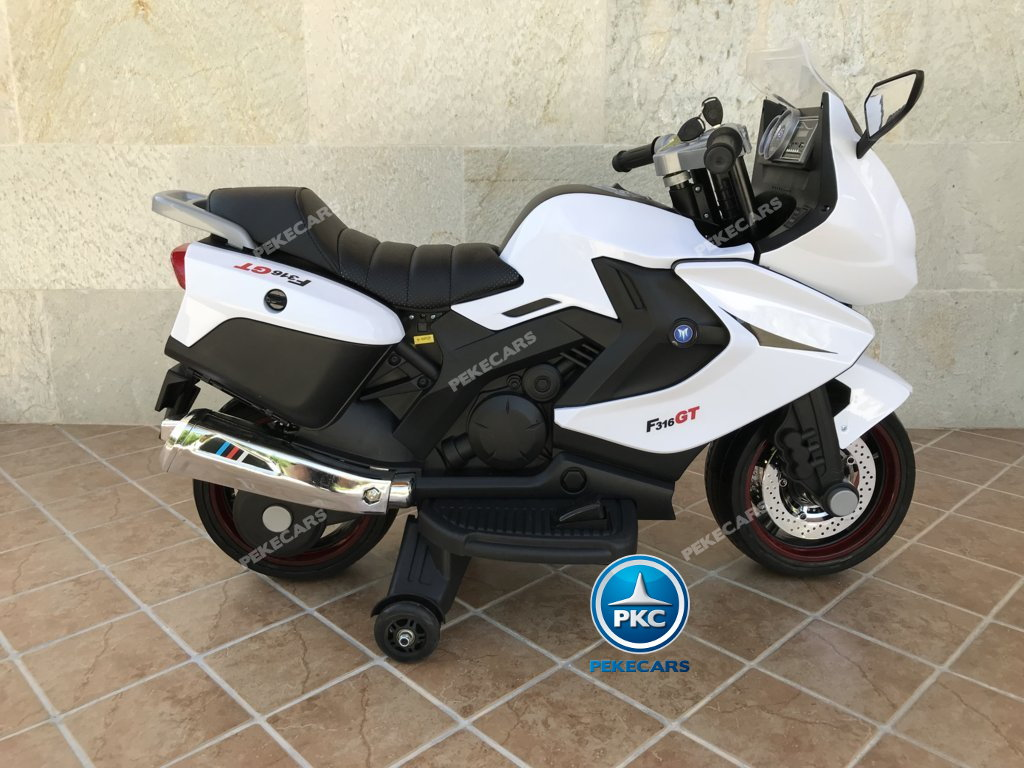 Moto electrica para niños BMW Style C 650 GT 12V Blanca lateral